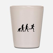 Male Runner Evolution Shot Glass