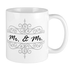 MR. AND MR. GAY WEDDING SCROLLING BORDER Mugs