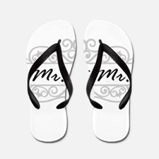 MR. AND MR. GAY WEDDING SCROLLING BORDER Flip Flop