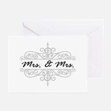 Mrs. And Mrs. Lesbian Wedding Gift Greeting Cards
