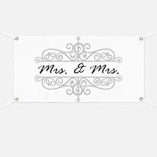 MRS. AND MRS. LESBIAN WEDDING GIFT Banner