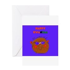 Kwanzaa Red Black Green Face Greeting Cards 10 Pk