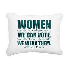 Wendy Davis Women Rectangular Canvas Pillow