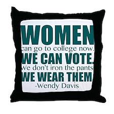 Wendy Davis Women Throw Pillow