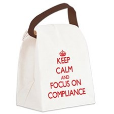 Funny Keep calm carry on Canvas Lunch Bag