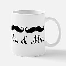 Mr. And Mr. Gay Wedding Mustache Mugs