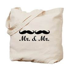 MR. AND MR. GAY WEDDING MUSTACHE Tote Bag