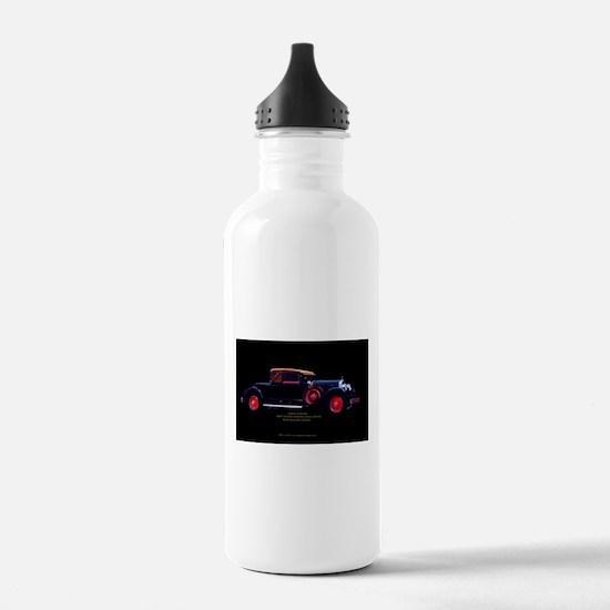 Jazz Era Cadillac Roadster Convertible Water Bottle