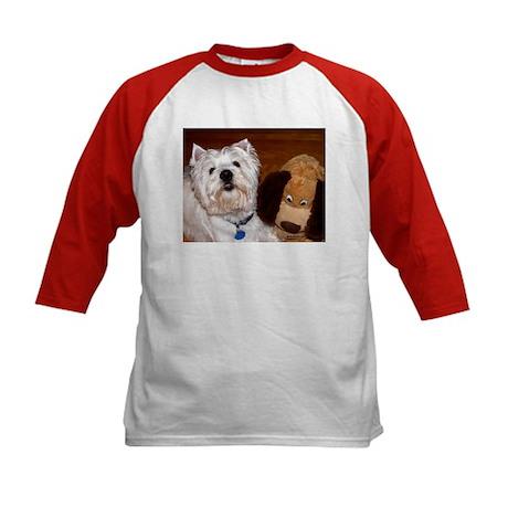 West Highland White Terrier Kids Baseball Jersey