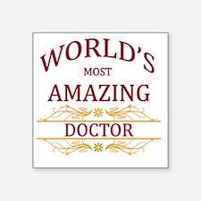 "Doctor Square Sticker 3"" x 3"""