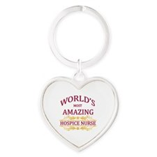Hospice Nurse Heart Keychain