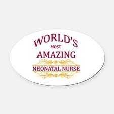 Neonatal Nurse Oval Car Magnet