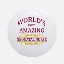 Neonatal Nurse Round Ornament