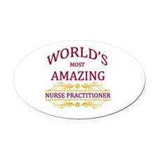 Nurse Practitioner Oval Car Magnet