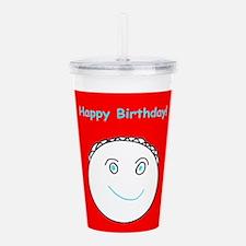 Cute Birthday Smiling Acrylic Double-Wall Tumbler