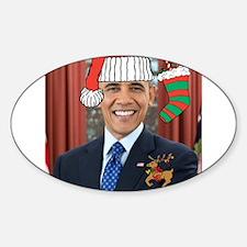 Obama Christmas Decal
