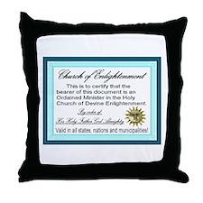 Church of Enlightenment Throw Pillow