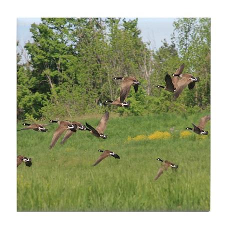 Geese in Flight Tile Coaster