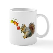 Squirrel Orange Lanterns Small Mug