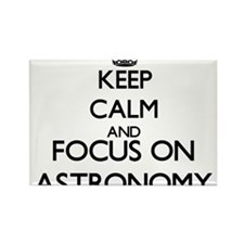 Keep calm and focus on Astronomy Magnets