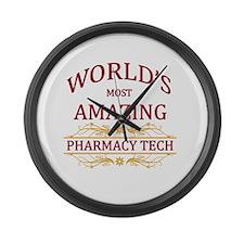Pharmacy Tech Large Wall Clock