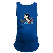 Ice Hockey Penguin Maternity Tank Top