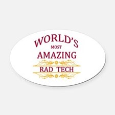 Rad Tech Oval Car Magnet