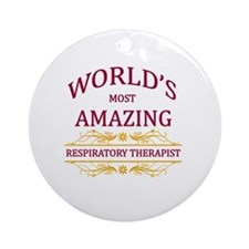 Respiratory Therapist Round Ornament