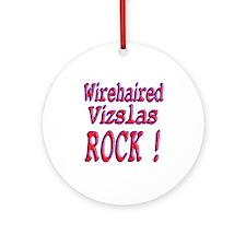 Wirehaired Vizslas Ornament (Round)