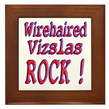 Wirehaired Vizslas Framed Tile