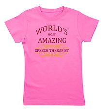 Speech Therapist Girl's Tee