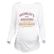 Speech Therapist Long Sleeve Maternity T-Shirt