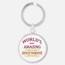 Speech Therapist Round Keychain