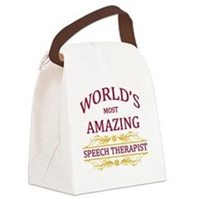 Speech Therapist Canvas Lunch Bag