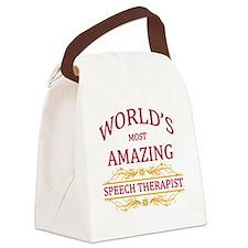 Speech Therapist Canvas Lunch Bag
