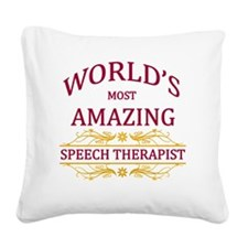 Speech Therapist Square Canvas Pillow