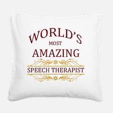 Speech Therapist Square Canvas Pillow