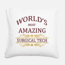 Surgical Tech Square Canvas Pillow