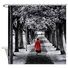 Funny Black and white photo Shower Curtain