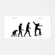Skateboarder Evolution Aluminum License Plate