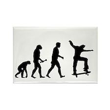 Skateboarder Evolution Magnets