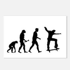 Skateboarder Evolution Postcards (Package of 8)