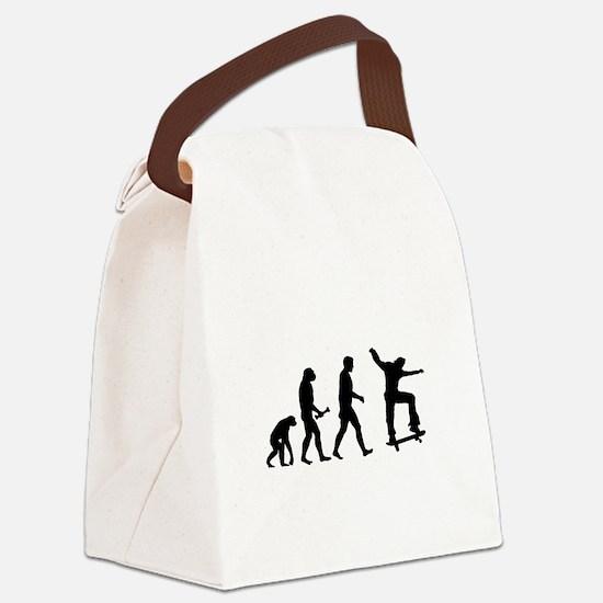 Skateboarder Evolution Canvas Lunch Bag