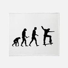 Skateboarder Evolution Throw Blanket