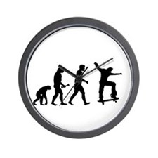 Skateboarder Evolution Wall Clock