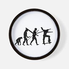 Skateboarder Evolution Wall Clock