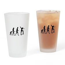 Skateboarder Evolution Drinking Glass