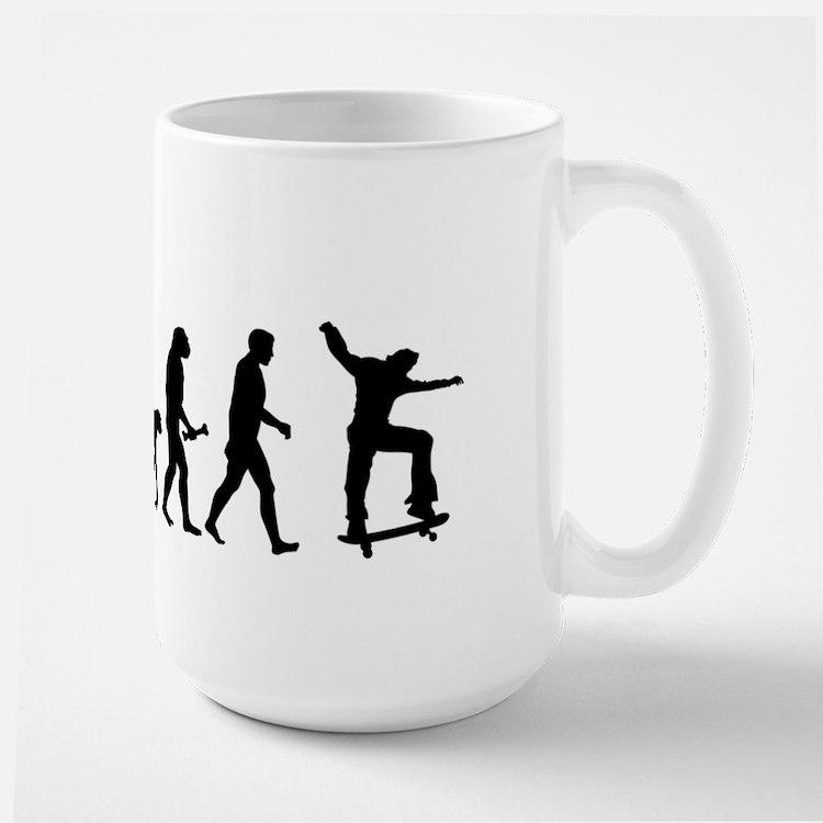 Skateboarder Evolution Mugs