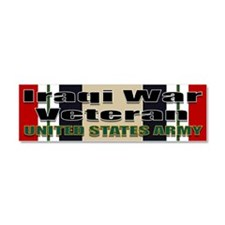 Cute Army veteran Car Magnet 10 x 3