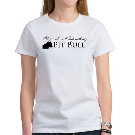 sleep with my pit bull black.png T-Shirt